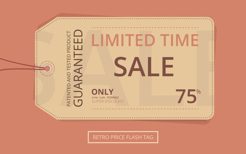 Preis Flash Retro Sale Tag