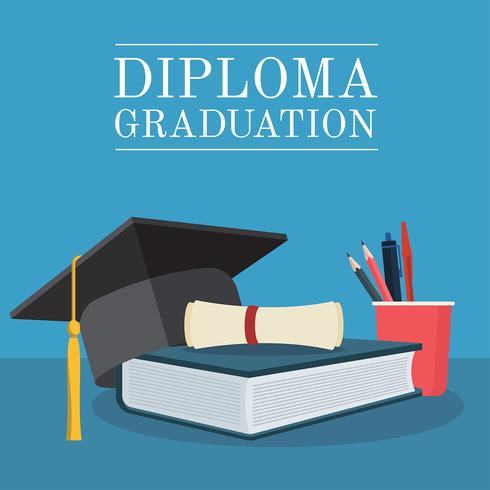 vector de graduación de diploma set