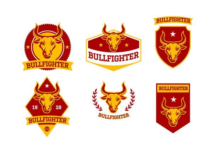 Bull Fighter Emblem Gratis Vector