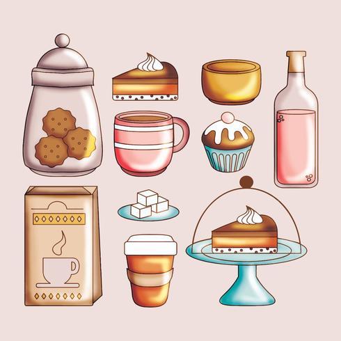 Vector Cute Set of Food