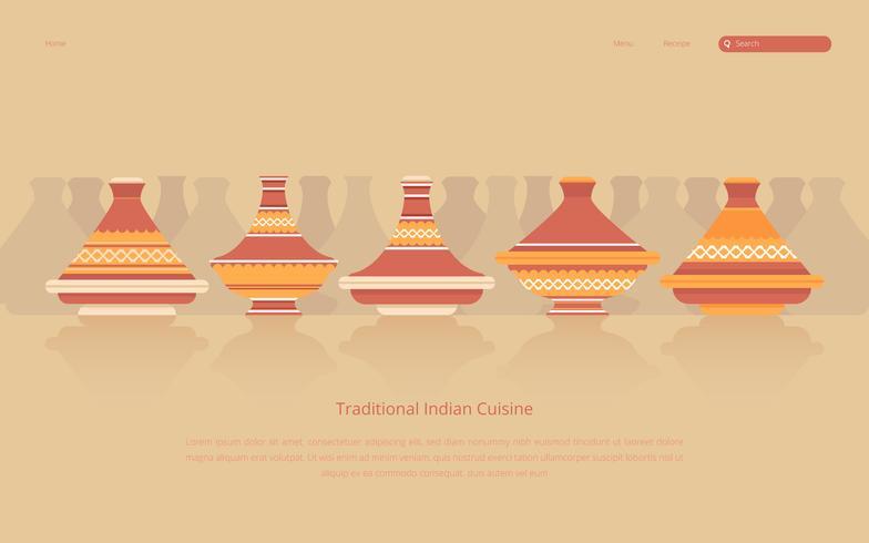 Tajine Marocaine Seamless Pattern