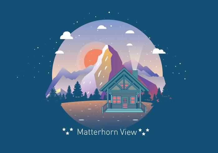 Beautiful Matterhorn View Vector - Download Free Vector Art, Stock Graphics & Images