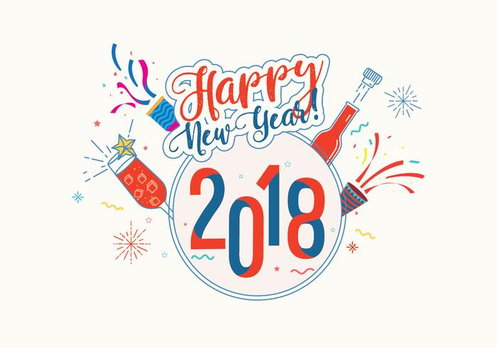 happy new year 2018 background vector download free vector art stock graphics images