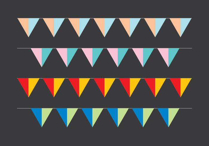 Party Flag vector