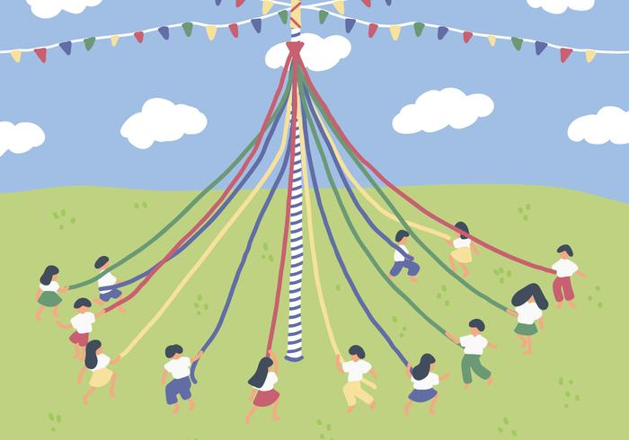 Maypole On The Country - Download Free Vector Art, Stock Graphics & Images