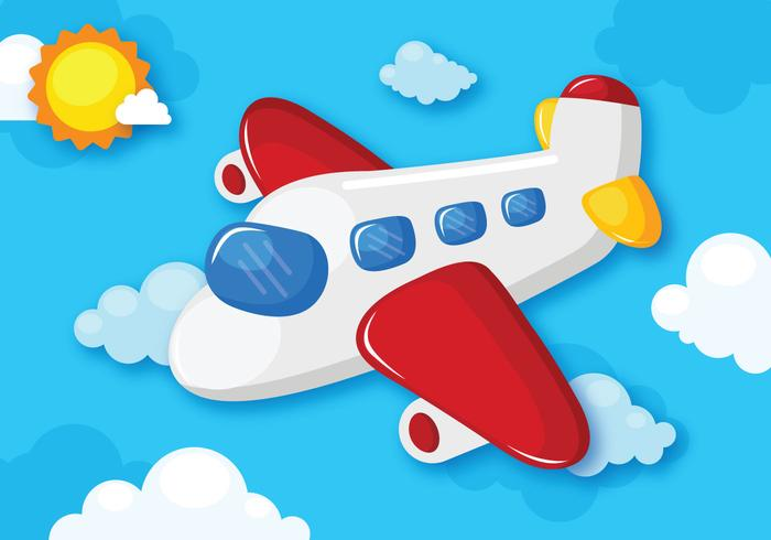 Avión de dibujos animados volador