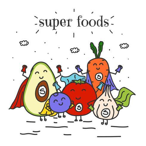 Super Lebensmittel Vektor