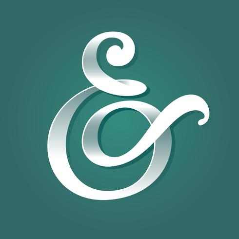 Light and Shadow Custom Ampersand Vector libre