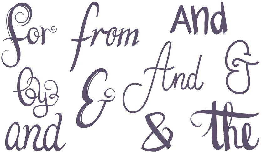 steekwoorden ampersands vectoren