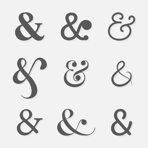 Ampersand Set Vector