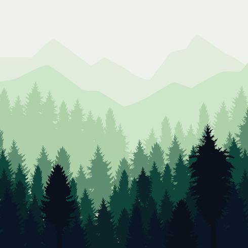 Abstrakte Waldlandschaft