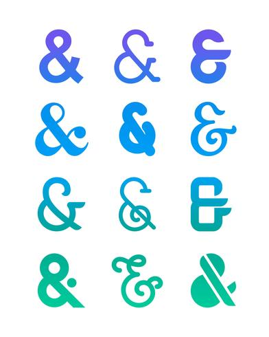 Ensemble de Logo Ampersand