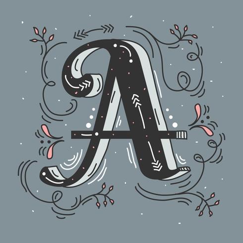 Lettre A Illustration vectorielle