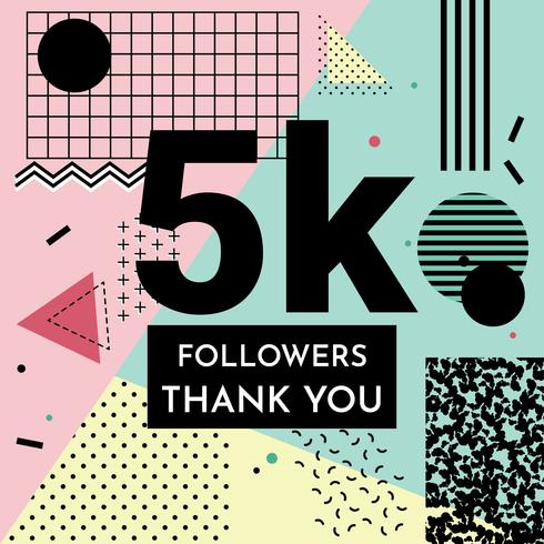 5K Bedankt Teken