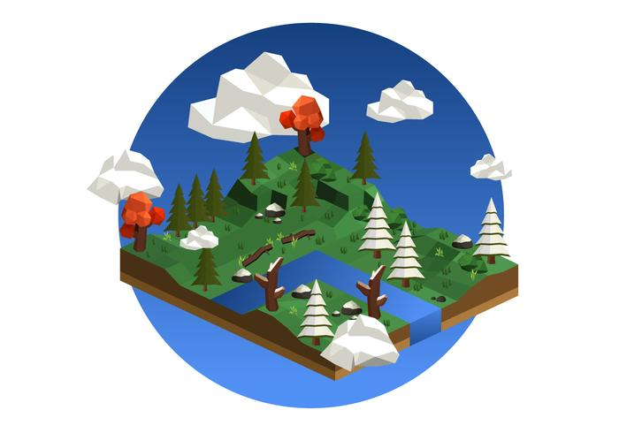 Low Poly Forest Background Illustration - Download Free Vector Art, Stock Graphics & Images