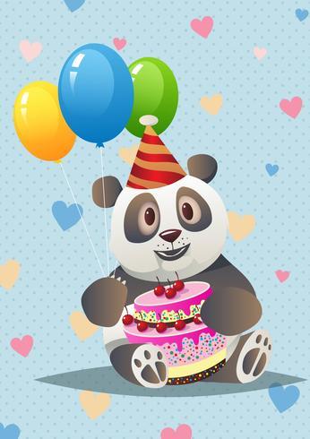 carino panda di critters vettore
