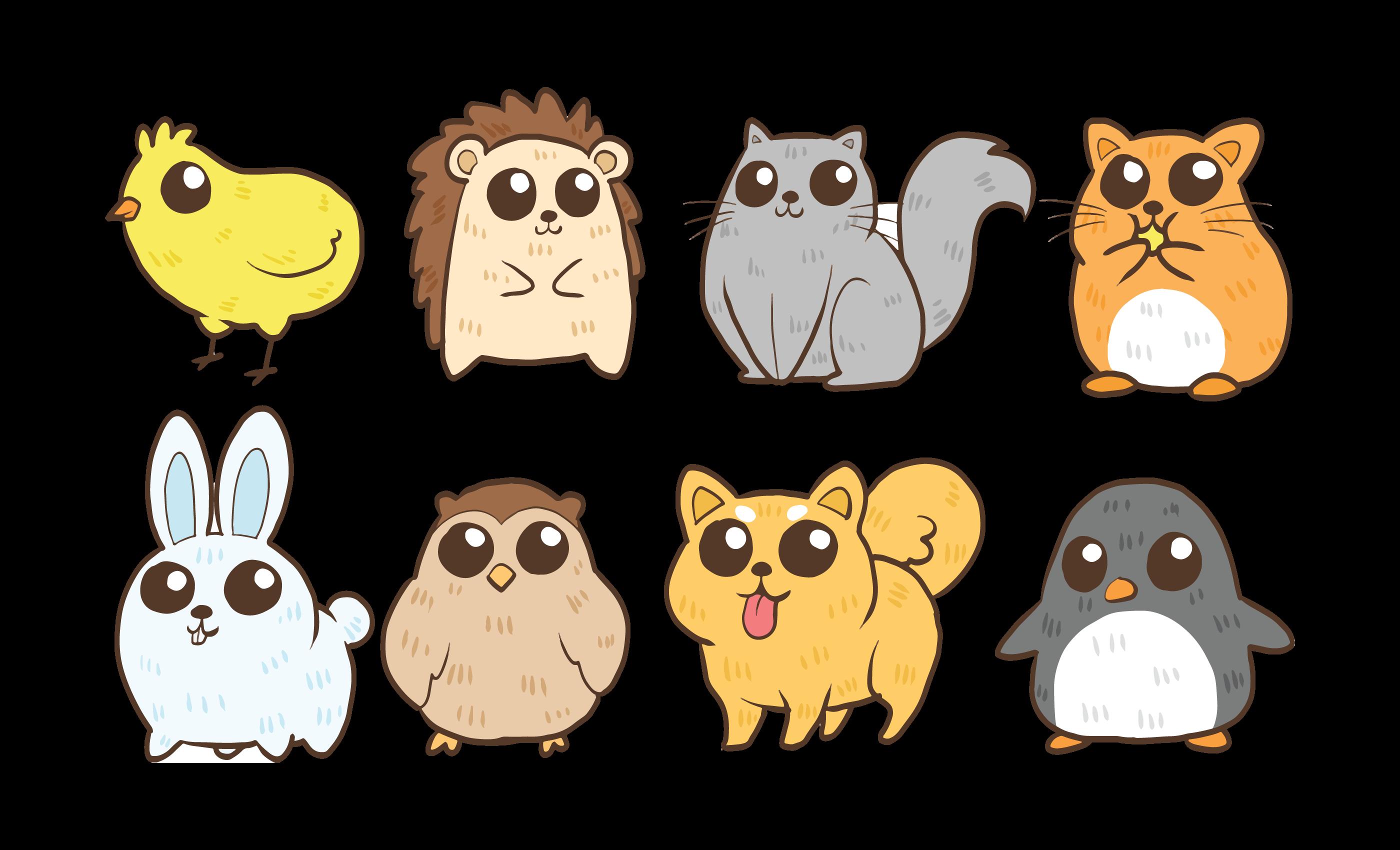 cute critters vector pet animal clipart dog skull snoopy card owl vecteezy edit vectors