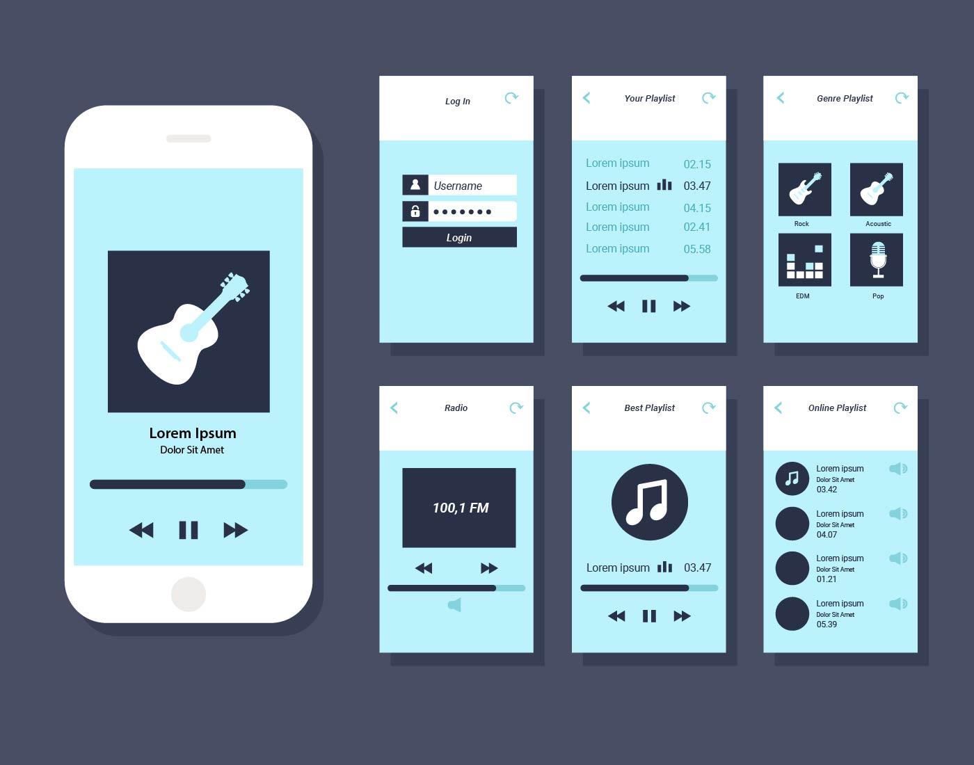 Music Playlist Free Vector Art - (30 Free Downloads)