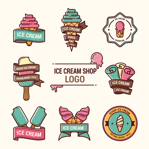 Logotipo de Ice Cream Shop vector