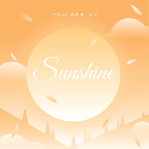 Je bent mijn Sunshine citaat Vector