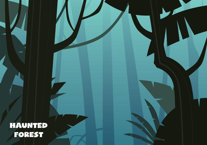 Haunted Forest Illustration - Download Free Vector Art, Stock Graphics & Images