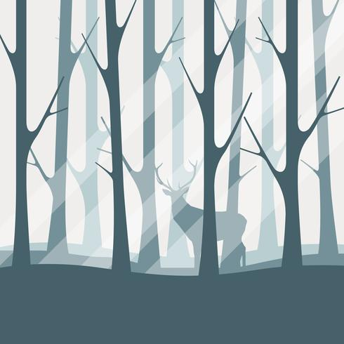 Deciduous Forest Silhouette Illustration - Download Free Vector Art, Stock Graphics & Images