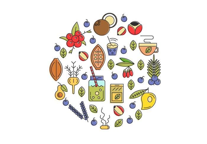 Super voedsel illustratie achtergrond