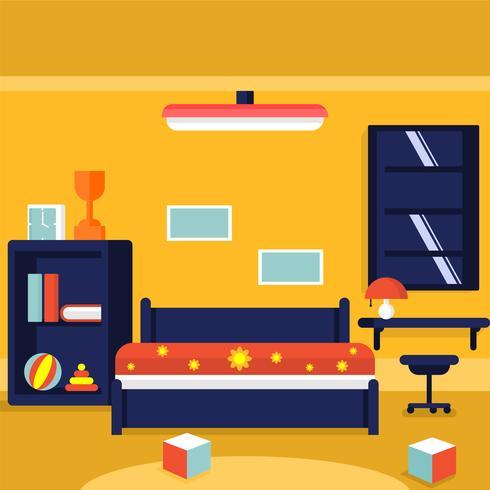 Kids Room Decor Vector Illustration