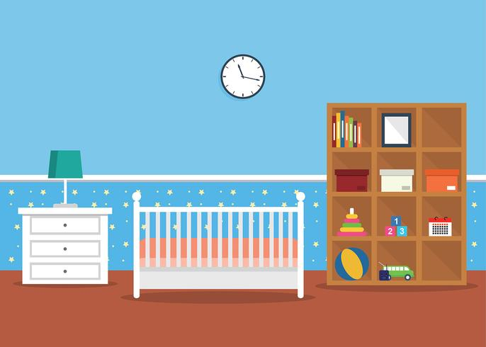 Kinderzimmer Dekor Vektor