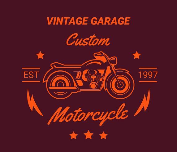 Vintage motorcyle logo's, label, embleem.