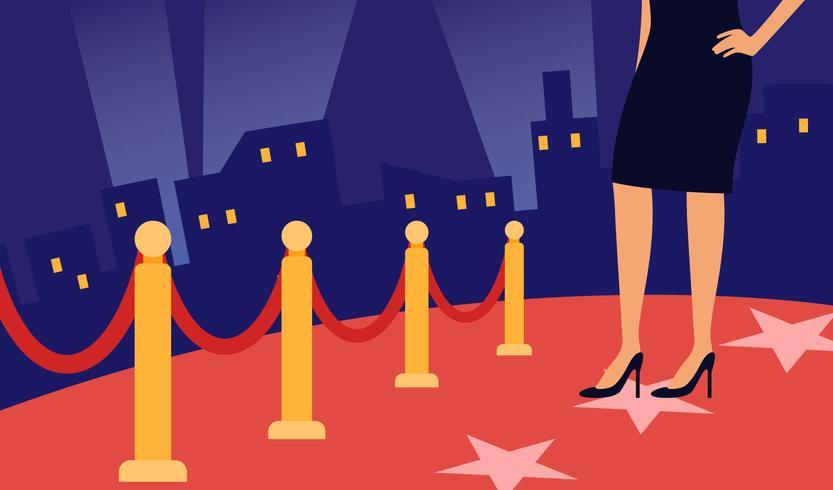 Vecteurs emblématiques de tapis rouge d'Hollywood