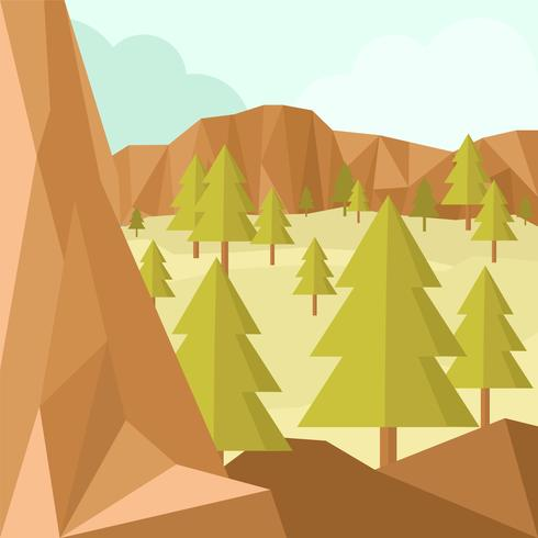 Vector Illustration Low Poly Forest - Download Free Vector Art, Stock Graphics & Images