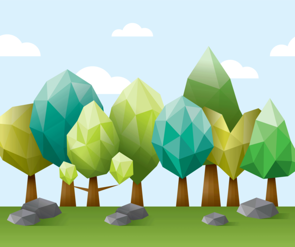 Illustration de la forêt Low Poly