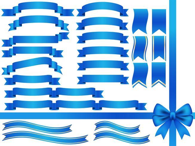Un conjunto de cintas azules surtidas.