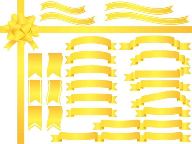 Eine Reihe von sortierten gelben Bändern.