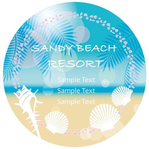 A circular vector summer background/message frame.