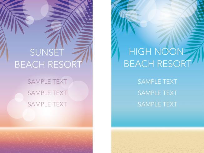 En uppsättning av två sommarbakgrund vektor illustrationer.