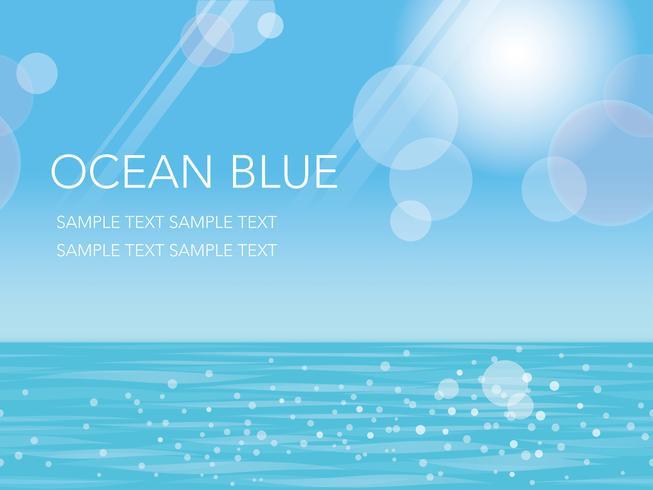 Een naadloze zomer oceaan, vector illustratie.