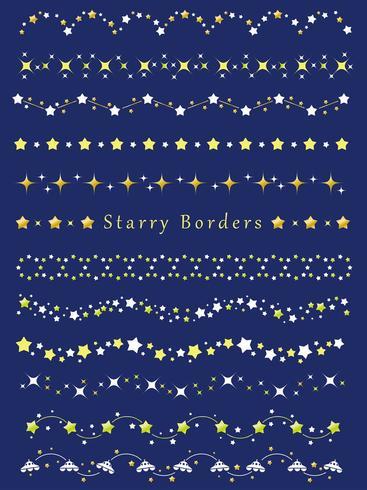 Un ensemble de bordures assorties avec divers motifs d'étoiles.