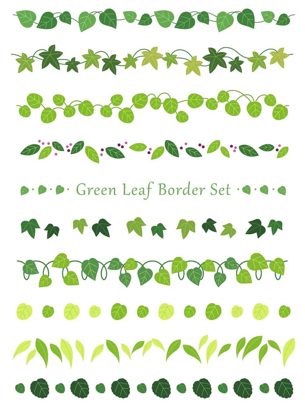 Leaf Border Free Vector Art