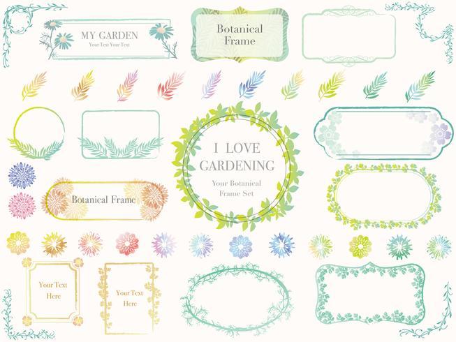 En uppsättning olika botaniska ramar.
