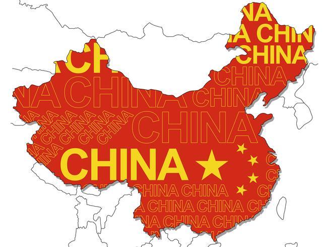 Um Mapa Da China Download De Vetor