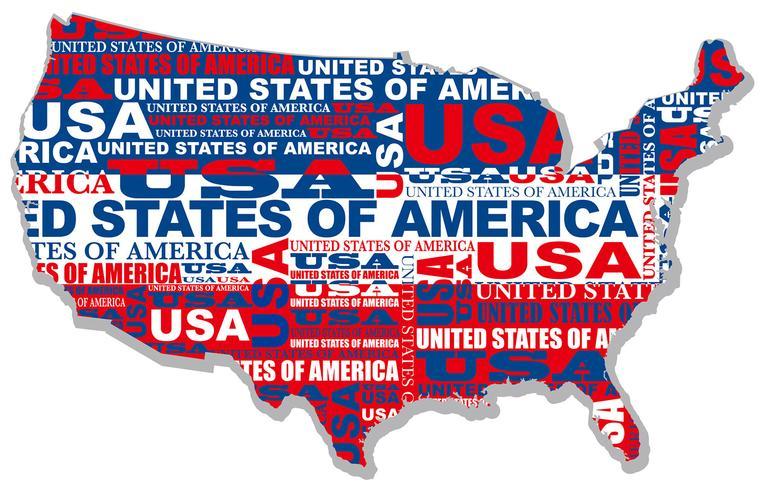 Une carte des Etats-Unis. vecteur