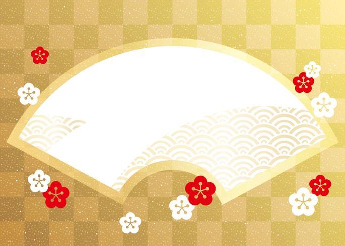Uma moldura de vetor em estilo japonês por excelência.