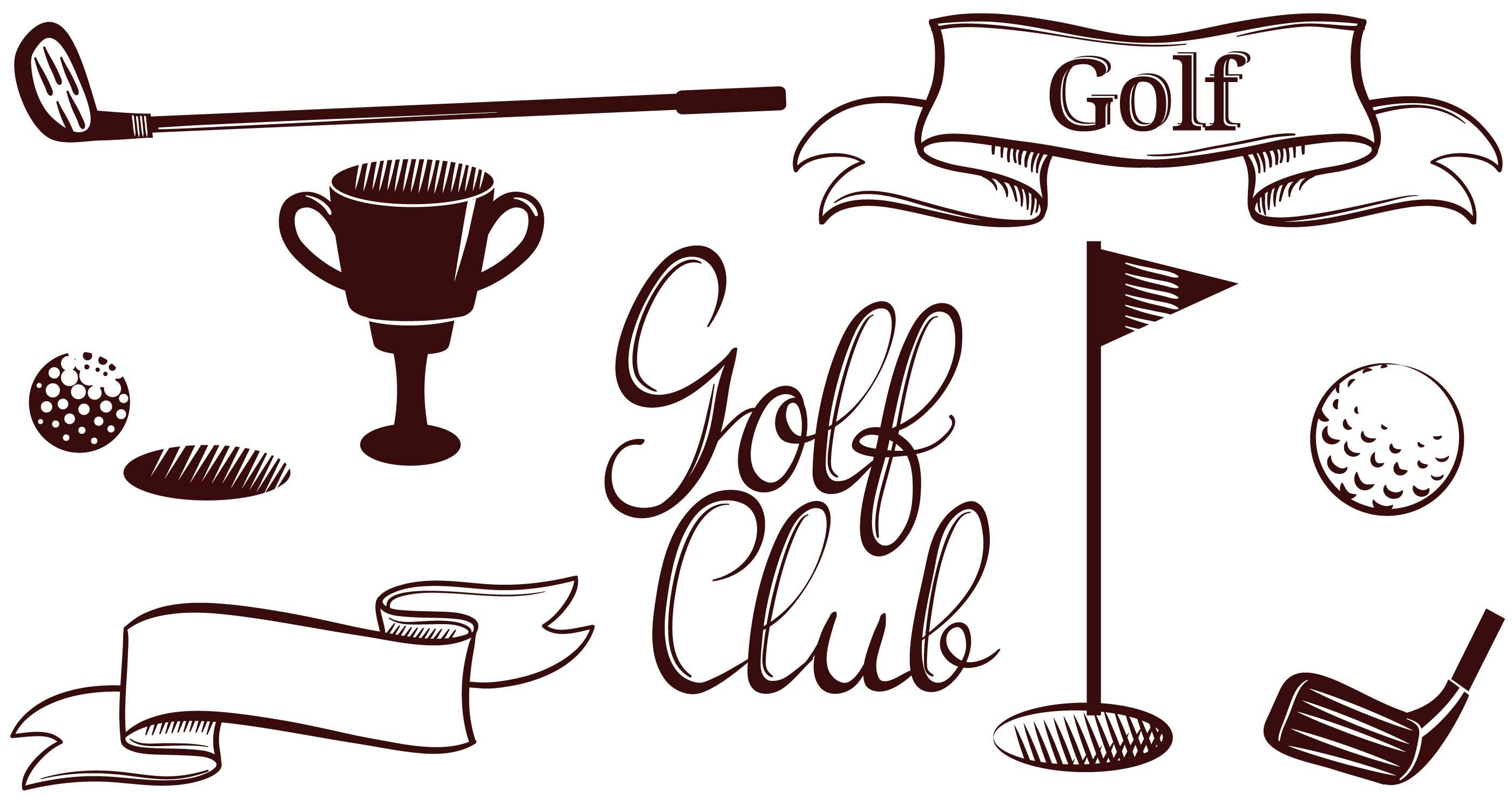 Vintage Golf Vectors - Download Free Vectors, Clipart ...