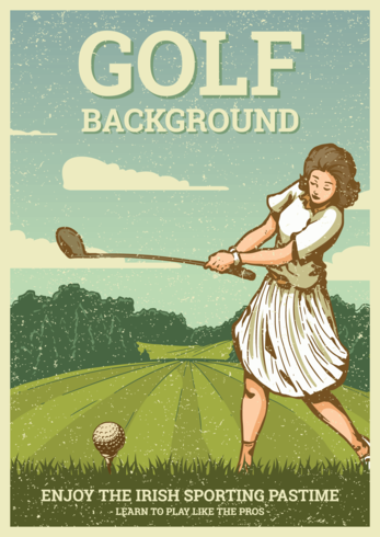 Vintage Golf Illustratie