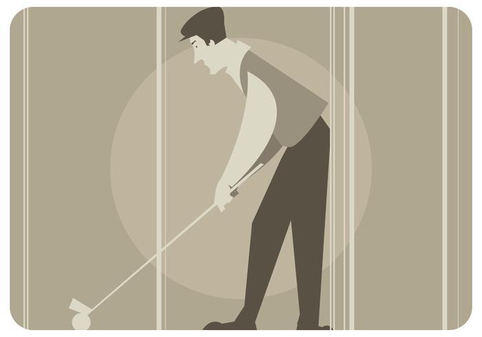 Vintage Golf Player Vector