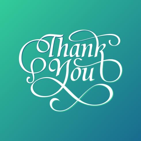 Decorative Thank You Typography Free Vector