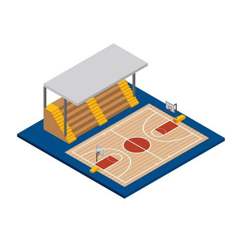 Vecteur d'isométrique de basket-ball