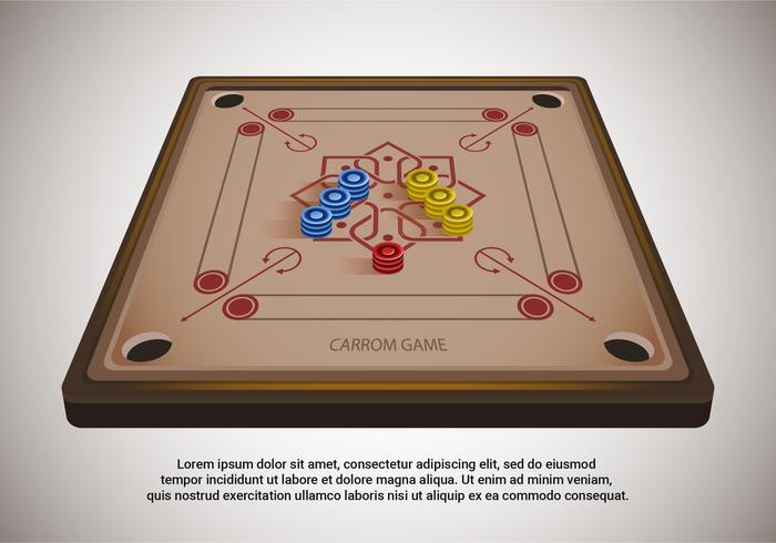 Carrom tabel vectorillustratie